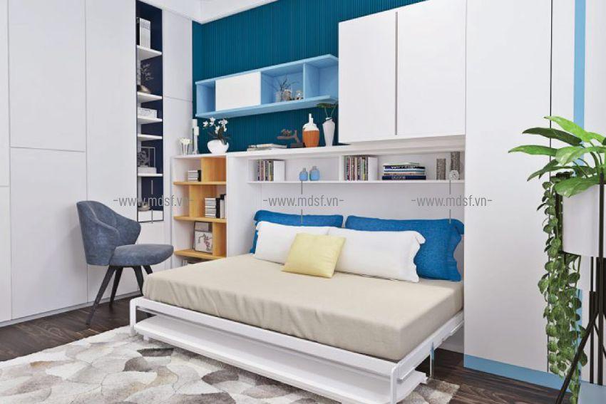 Giường ngủ với bàn học