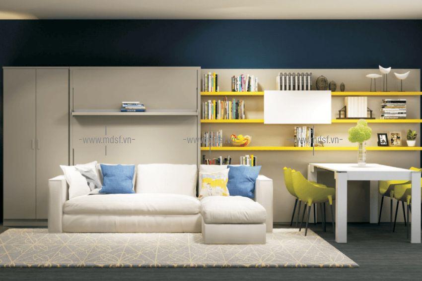 Giường thông minh với sofa