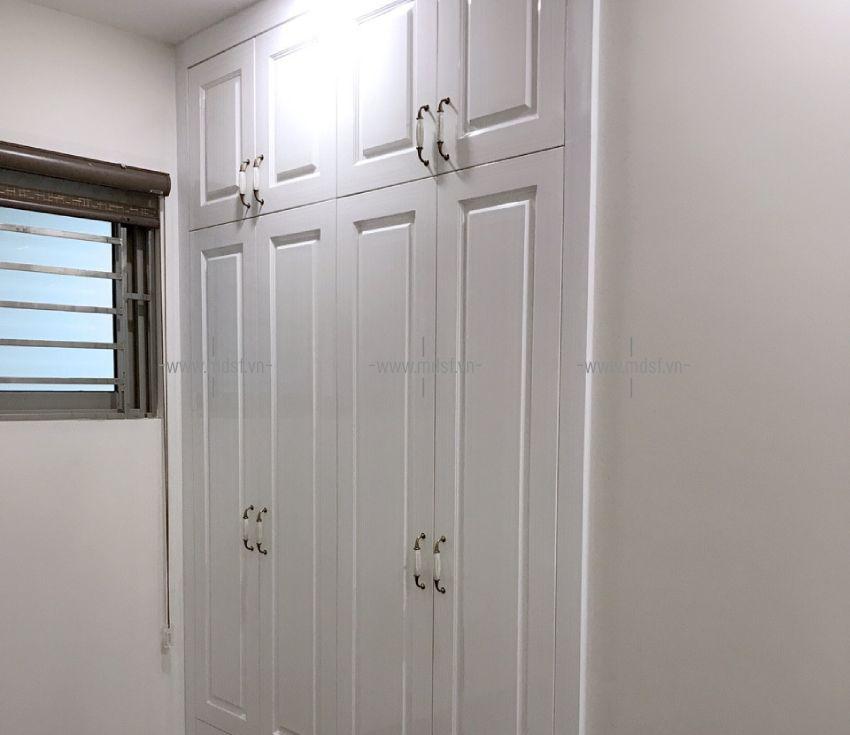 Tủ quần áo âm tường cho phòng ngủ của khách hàng