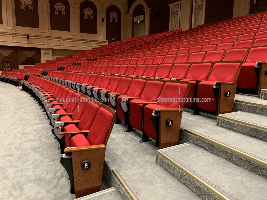 lắp đặt ghế hội trường 1