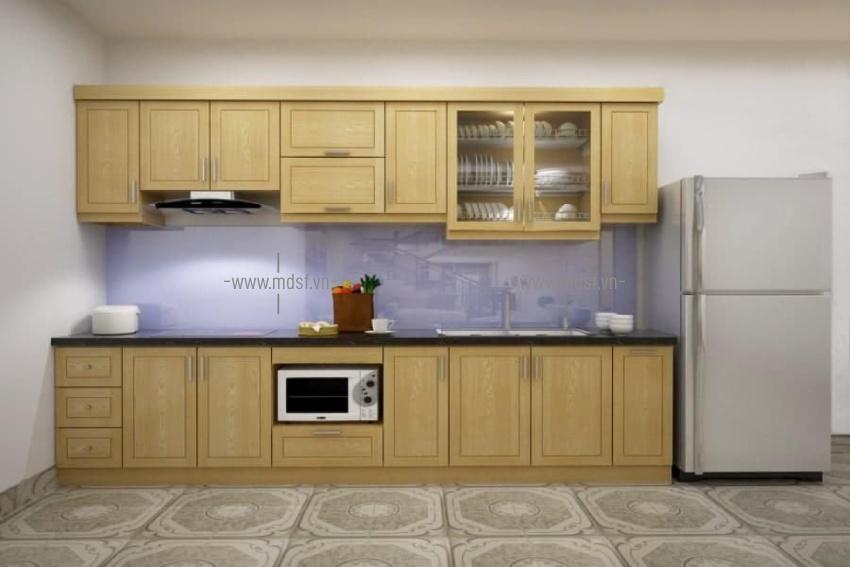 tủ bếp gỗ sồi nga giá rẻ 5