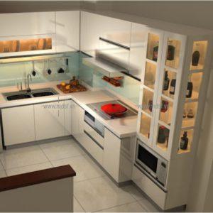 Tủ bếp kèm tủ rượu 2