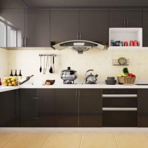 tủ bếp màu đen 1