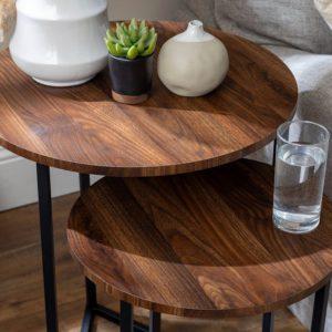 Bàn cafe mặt gỗ 4