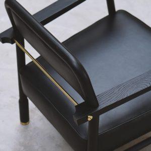 Ghế bành gỗ sồi tự nhiên 4