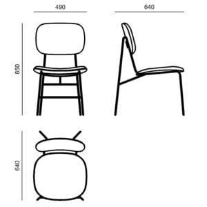Ghế ăn chân kim loại 7